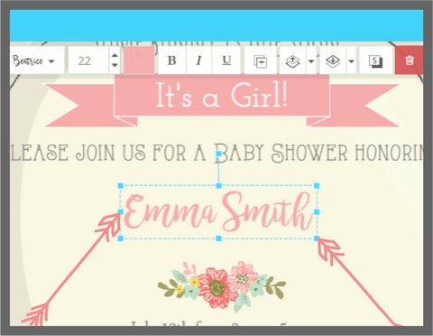 Resizing, moving & stretching objects in Templett, Little Printables Shop