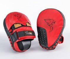 Pro Curved Hook and Jab Pads Leather Heavy Hit