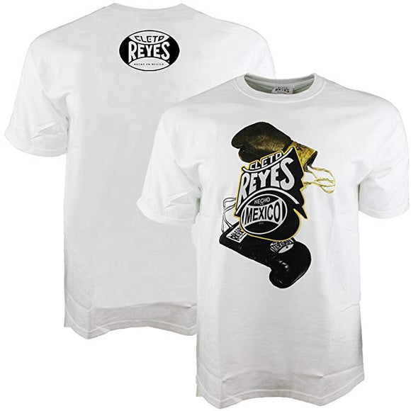 White Cotton T-shirt with Cleto Reyes Glove Logo