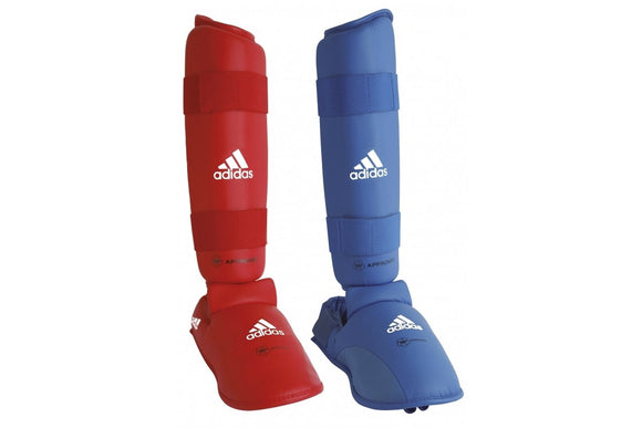 Adidas WKF Shin And Removable Instep Pads - Red or Blue
