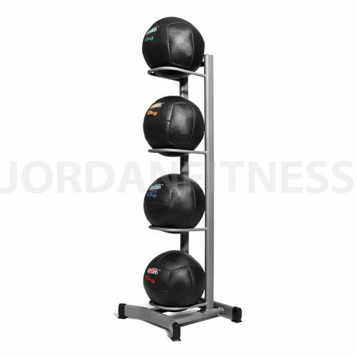 Wall Ball Rack Empty (holds 4) - Grey or Black