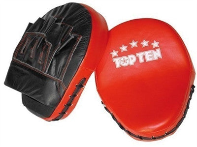 TOP TEN FOCUS MITTS BLACK/RED