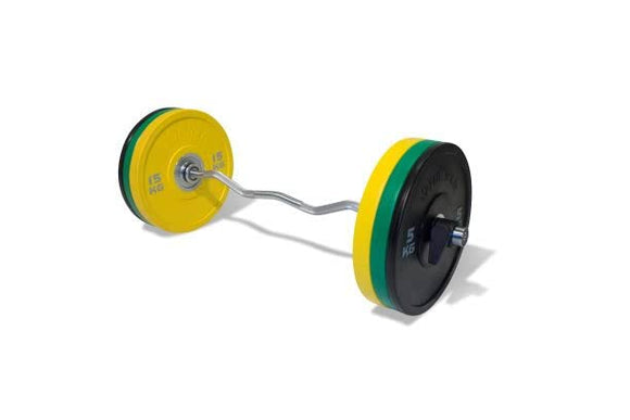 PU Competition Bumper Plate Barbell Set (68kg)