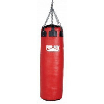 RED COLLECTION COLOSSUS LEATHER PUNCH BAG 4.5 FT