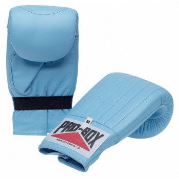 BABY BLUE COLLECTION LEATHER PUNCH BAG MITTS