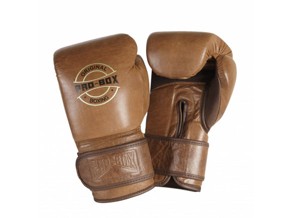 ORIGINAL VINTAGE TAN BOXING GLOVES - 10, 12, 14 or 16oz