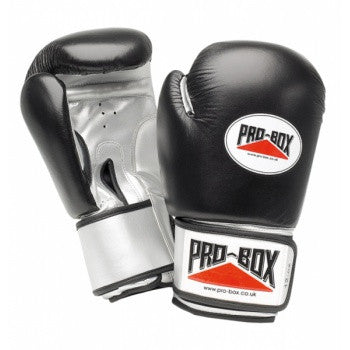 BLACK COLLECTION BLACK-SILVER GLOVES 12OZ
