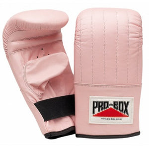 'PINK COLLECTION' LEATHER PUNCH BAG MITTS