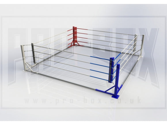 PERMANENTLY FIXED FLOOR BOXING RING