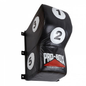 BLACK/WHITE LEATHER UPPERCUT WALL PAD
