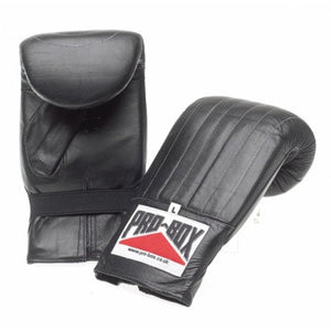 'BLACK COLLECTION' PRE-SHAPED PUNCH BAG MITTS