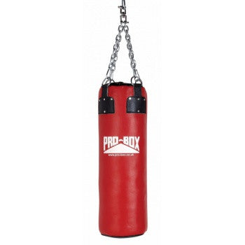 RED COLLECTION HEAVY LEATHER PUNCH BAG 3FT