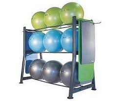 9 Stability Ball/BOSU & Gym Mat Storage Rack (Empty)