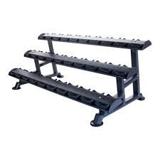 Horizontal Dumbbell Saddle Rack (Empty) - 6, 10 or 15 Pairs Options