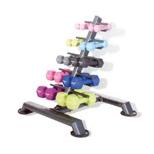 Dumbbell Storage Tier with 10 Pairs of Neo-Hex Dumbbels