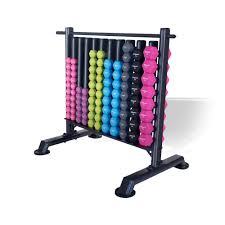 Storage Rack with 48 Pairs of Neo Hex Dumbells