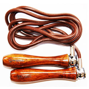 Weighted Handle Leather Skipping Rope