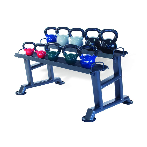 10 Vinyl Kettlebell Set with Rack