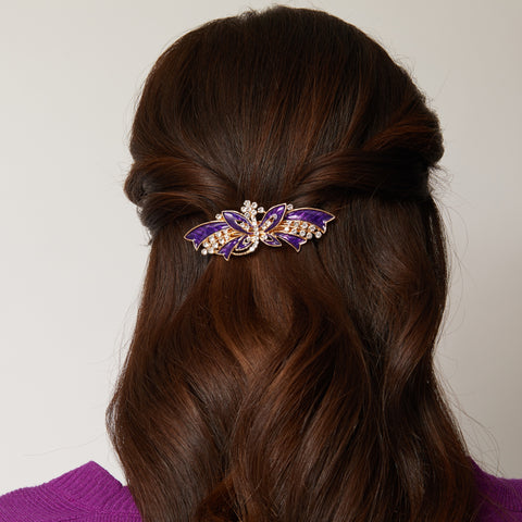 half up half down hair barrette