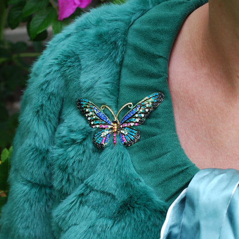 large butterfly brooch