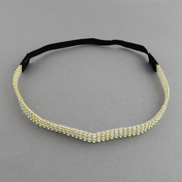diamante headband gold