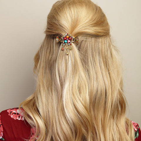 flower hair accessory multi coloured