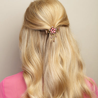flower hair accessory in pink