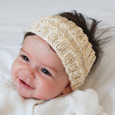 Gold baby ear warmer