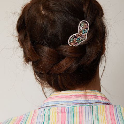 heart hair clip multi coloured