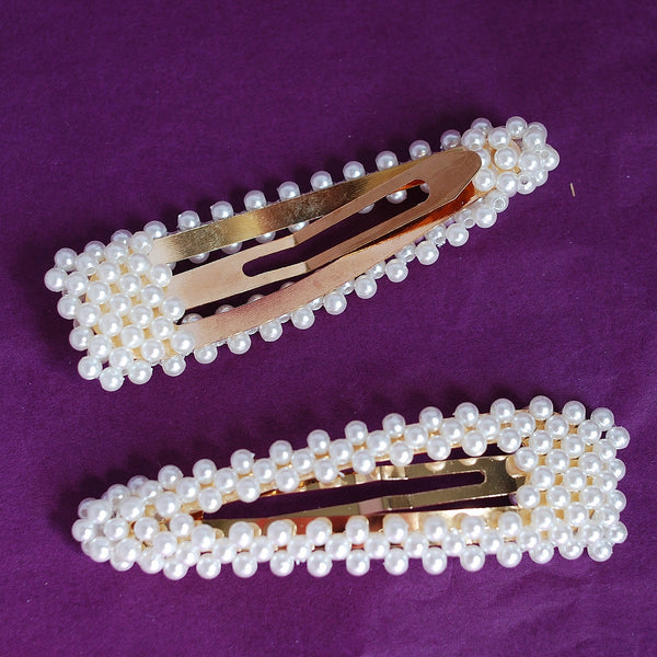 pearl hair clips set back