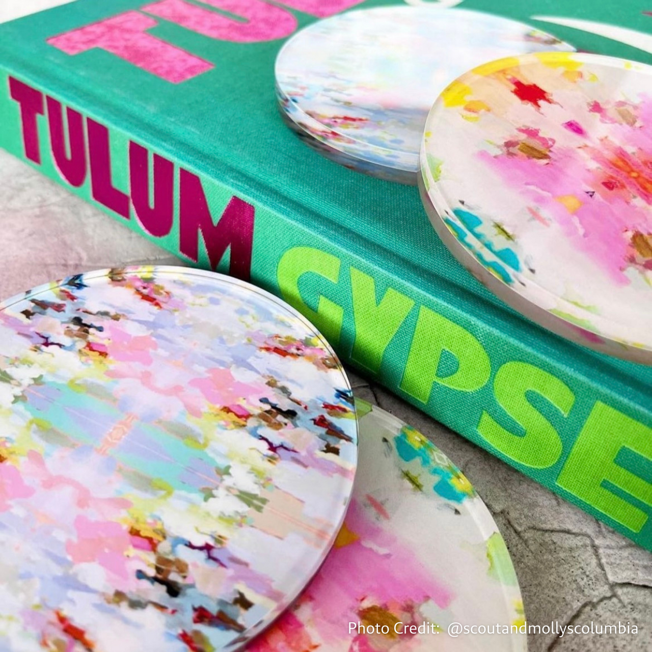 "Flower Child Teal Quilted Cosmetic Bag <span style=""color:#00ADB3;font-weight:600;"">NEW</span>"