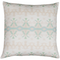 Indigo Girl Green Linen Cotton Pillow