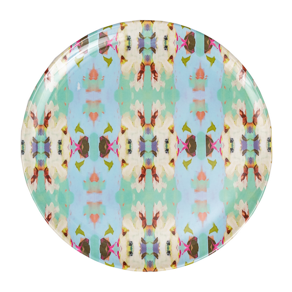 Summer Garden Light Blue Melamine Plate