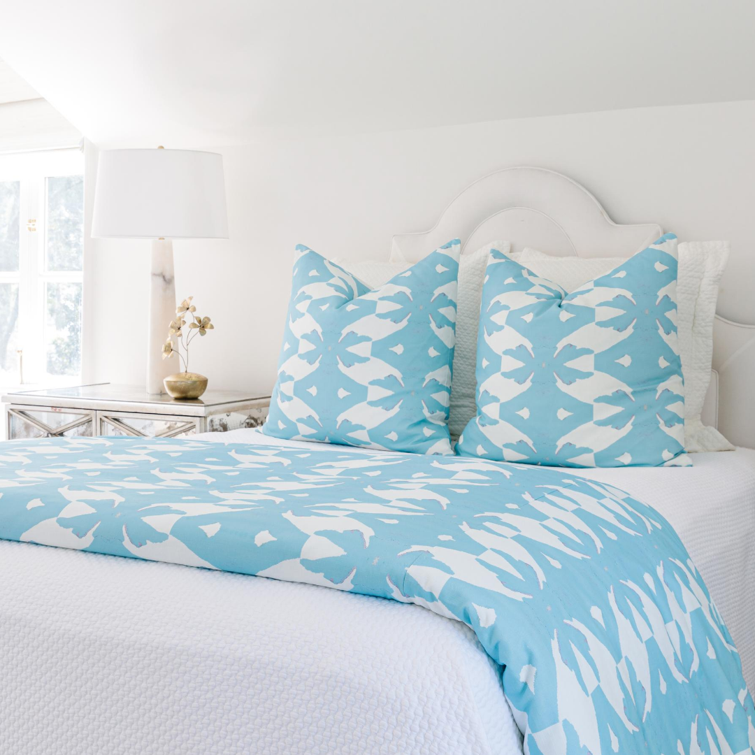 Palm Blue Duvet Cover