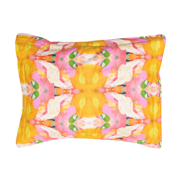 "Flower Child Marigold Sham <span style=""color:#00ADB3;font-weight:600;"">NEW</span>"