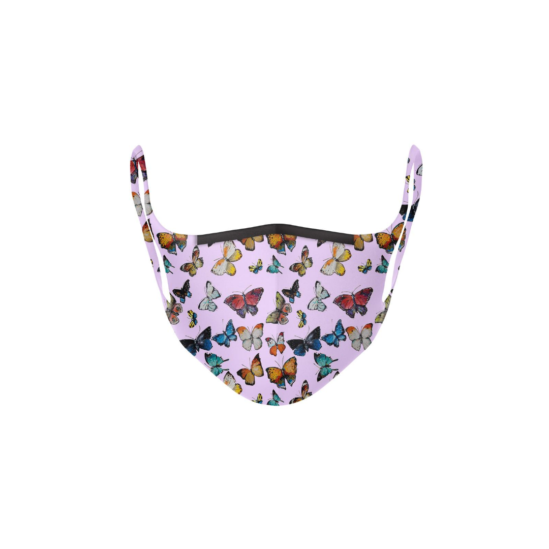 Butterflies Pink Kid's Face Mask