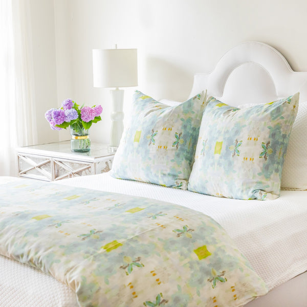 Coral Bay Green Duvet Cover