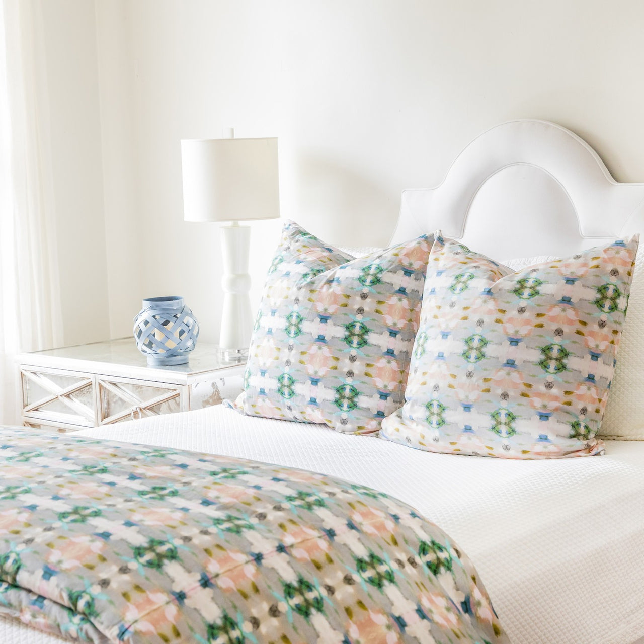 "Indigo Girl Green Duvet Cover <span style=""color:#00ADB3;font-weight:600;"">NEW</span>"