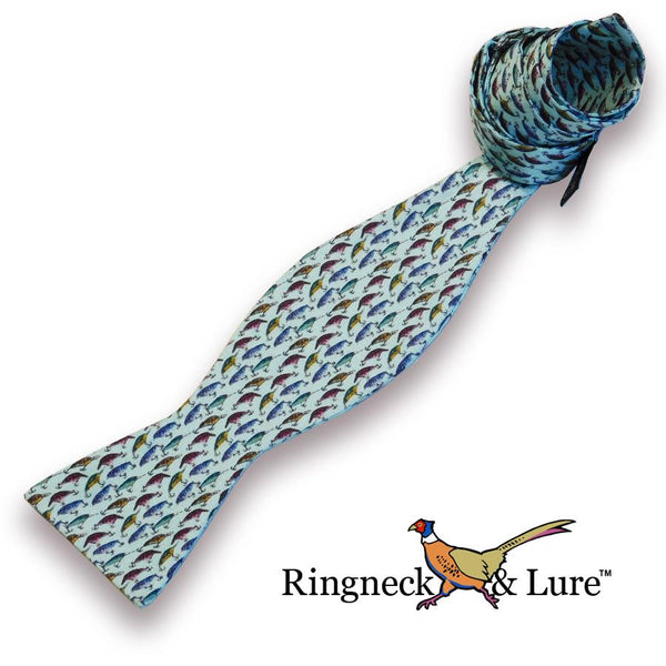 Lake Lures Teal Bow Tie