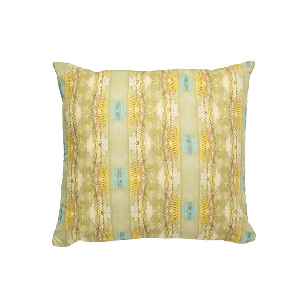 Lawson's Park Turquoise Linen Cotton Pillow