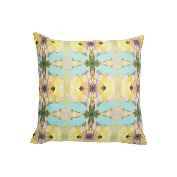 Lawson's Park Yellow Faux Hide Pillow
