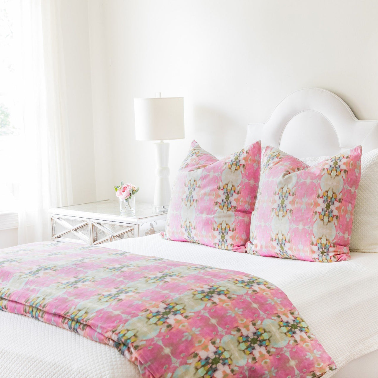 Little Chapel Pink Duvet Cover
