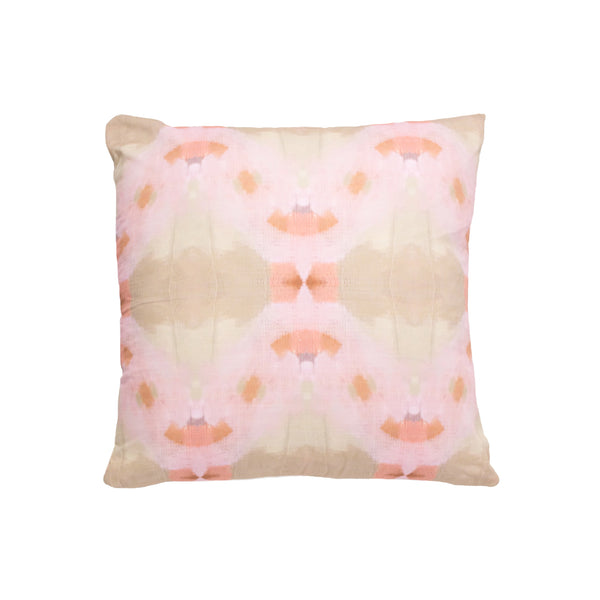 Orchid Blossom Pink Linen Cotton Pillow