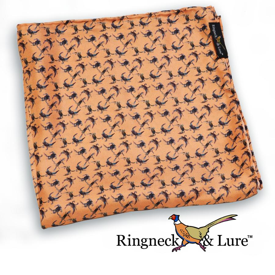 Crabs-Salmon Pocket Square