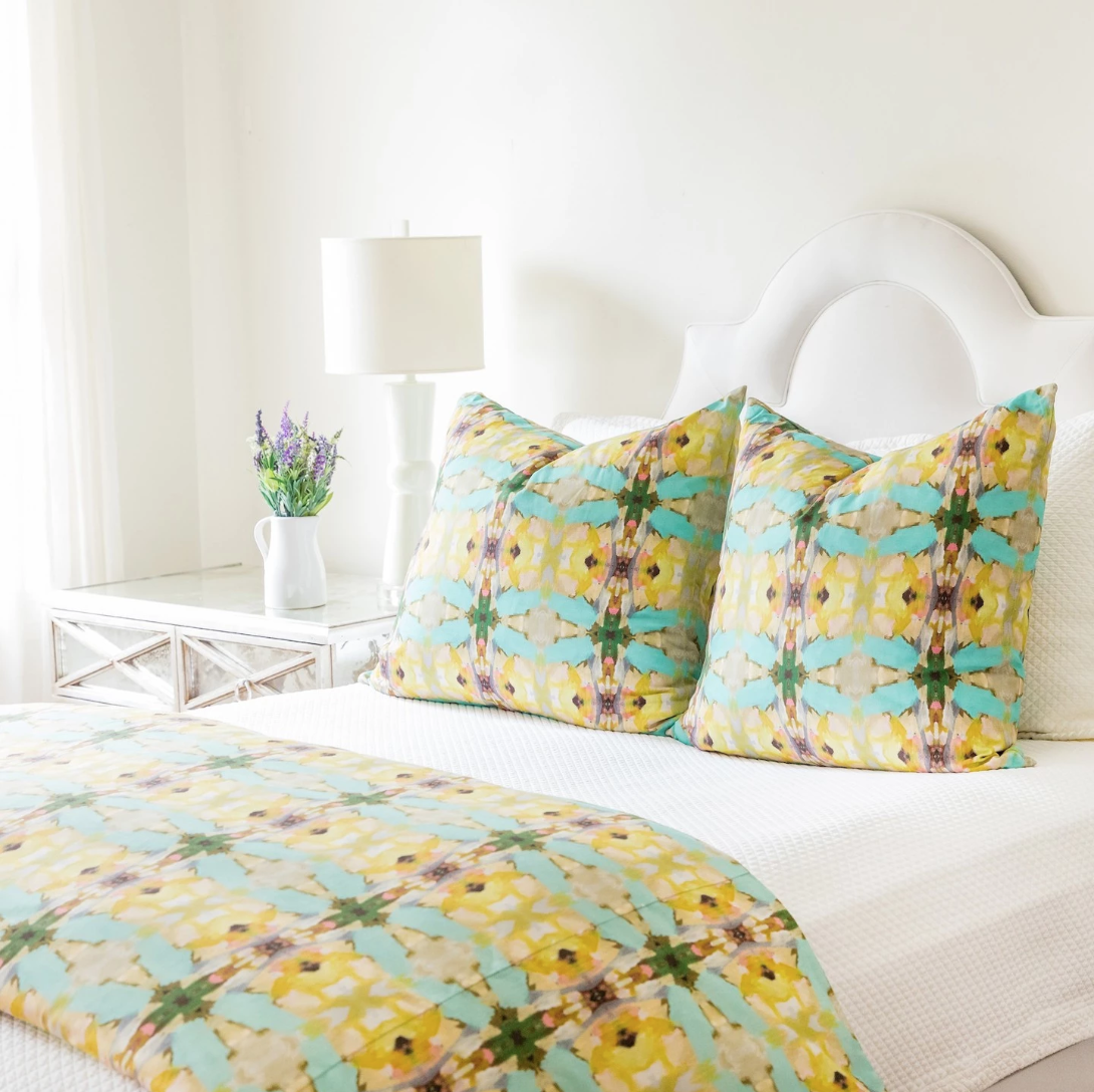 Lawson's Park Yellow Duvet Cover
