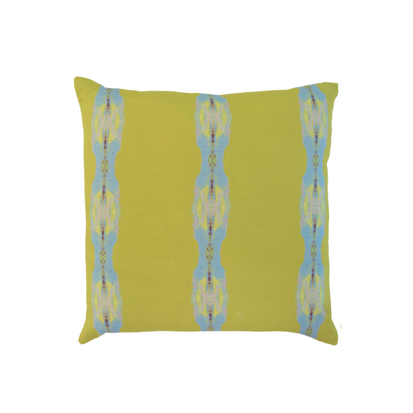 Provence Chartreuse Stripe Linen Cotton Pillow