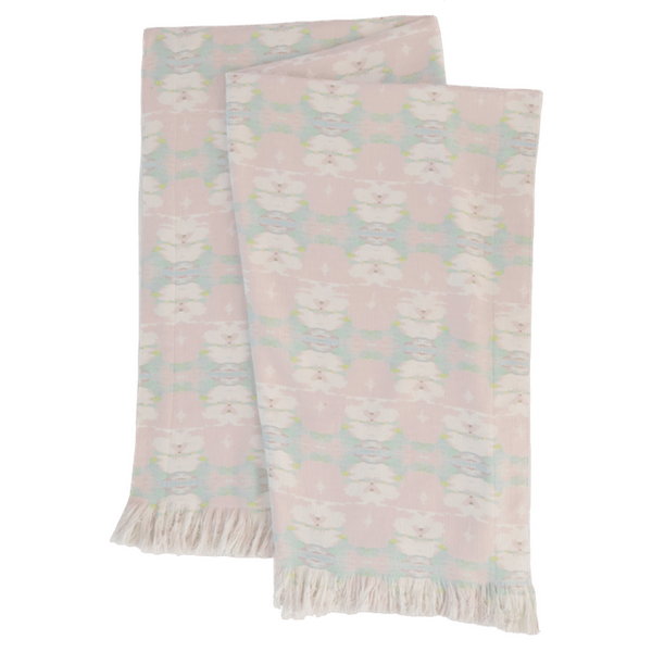 "Butterfly Garden Blush Throw Blanket <span style=""color:#00ADB3;font-weight:600;"">NEW</span>"