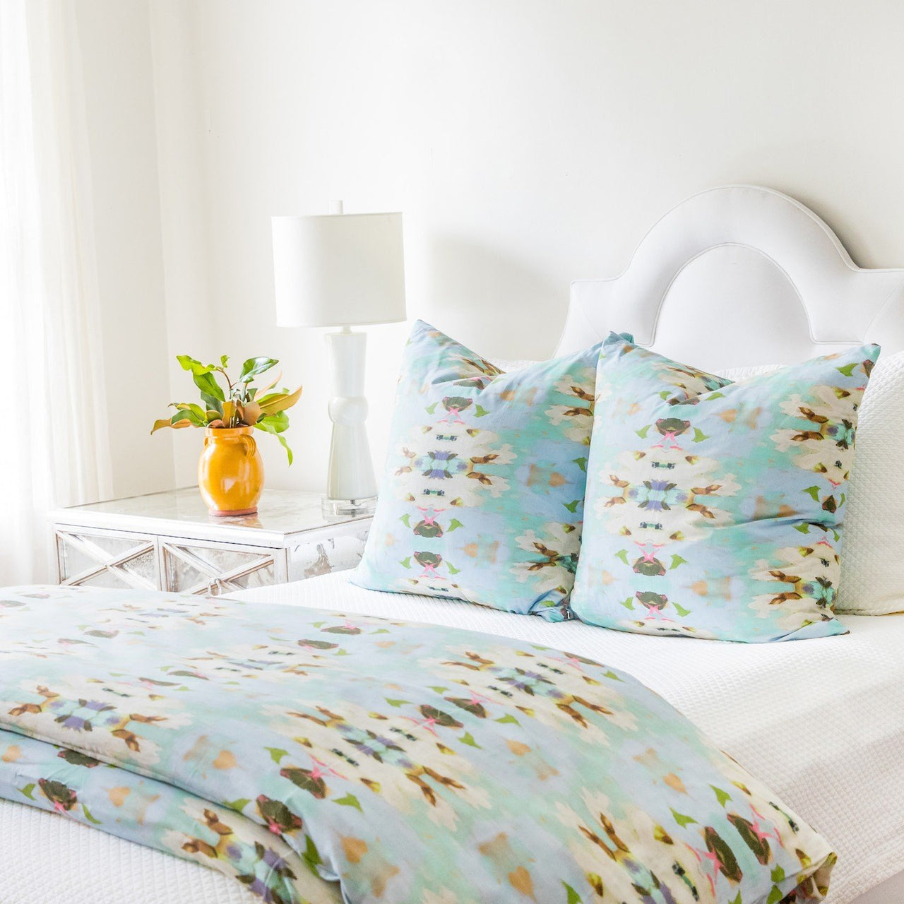 Summer Garden Light Blue Duvet Cover