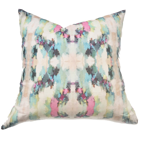 Alphabet Soup Faux Hide Pillow