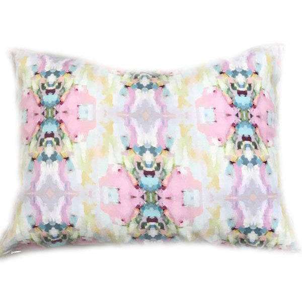 Lemonade Stand Pink Linen Cotton Pillow